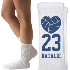 Custom Name and Number Volleyball Socks