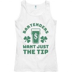 St. Patrick's Day Bartender Women's