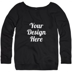 Custom Misses Slouchy Wideneck Sweatshirt