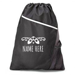 Custom Name Balette Point Drawstring Bag