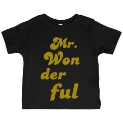 Mr. Wonderful toddler tee