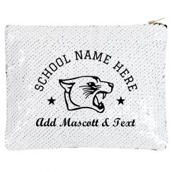 Custom School Pride Sequin Pouch
