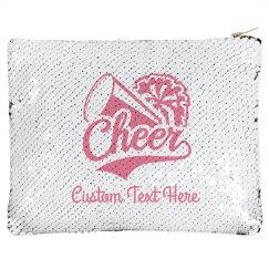 Custom Cheerleader Name Sequin Pouch