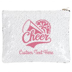 Custom Cheerleader Name Sequin Pouch