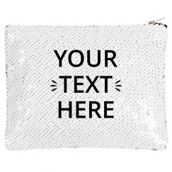 Custom Text Sequin Bag