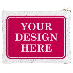 Add Your Design Custom Sequin Pouch