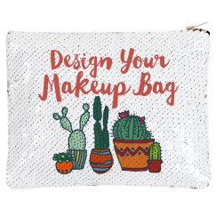 Custom Cacti Flip Sequin Bag