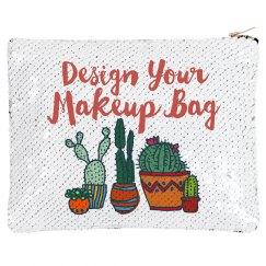 Custom Cacti Flip Sequin Bag