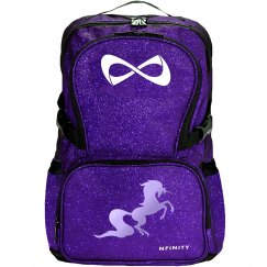 Unicorn Glitter Backpack - purple/electric grape