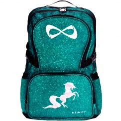 Unicorn Glitter Backpack - teal/pearl white