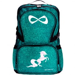 Unicorn Glitter Backpack - teal/pearl white