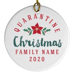 A Quarantine Christmas Family Ornament