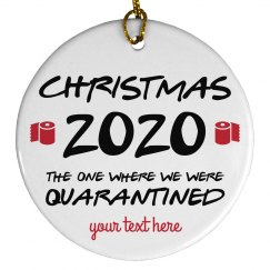 Christmas 2020 Custom Quarantine Ornament