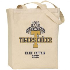 Tigers Cheer Tote Bag