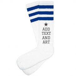 Custom Art & Text Socks For Gift