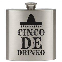 Cinco de Drinko Flask