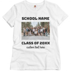 Create a Custom Class Tee & Upload your Photo