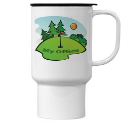 Golf - My Office 15oz Travel Mug