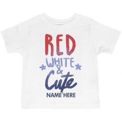 Custom Red White Cute Toddler
