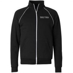Truly Yoga Men/Unisex Full Zip Jacket (Black)