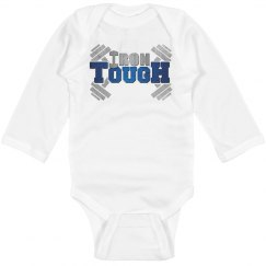 IronTough Infant Long Sleeve Baby Rib Onesie