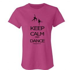 Keep Calm and Dance junior fit tee