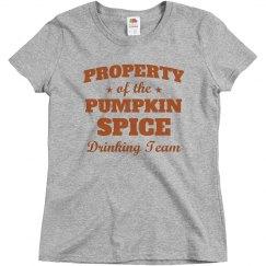 Pumpkin Spice Drinking Team