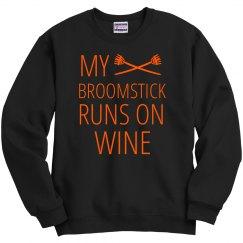 Shiny Broomstick Runs On Wine