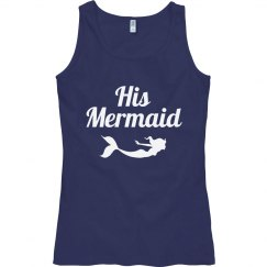 His Mermaid Nautical Beach Tank