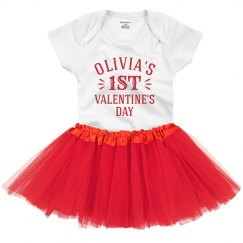 Custom Name First Valentine Outfit