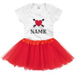 Personalized Valentine Baby Outfit
