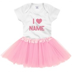 I Love Custom Name Valentine Outfit