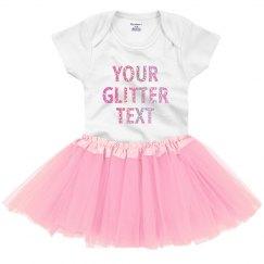Custom Glitter Text Tutu Outfit