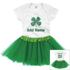 Custom Name St. Patrick Cutie Baby