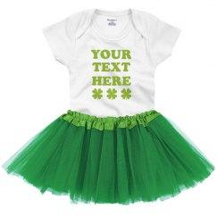 Custom Baby Green Tutu Onsie Set