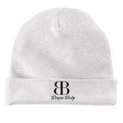 Boujie Baby Black Text Rabbit Skins Baby Hat