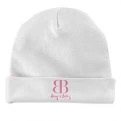 Boujie Baby Pink Text Rabbit Skins Baby Hat
