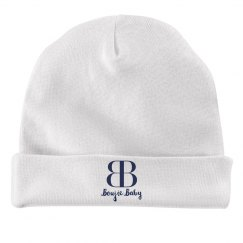 Boujie Baby Navy Text Rabbit Skins Baby Hat
