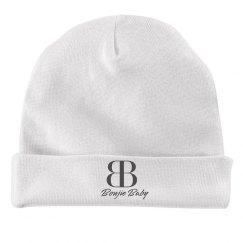 Boujie Baby Gray Text Rabbit Skins Baby Hat