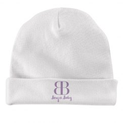 Boujie Baby Lavender Text Rabbit Skins Baby Hat