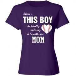 Cute Heart Baseball Mom