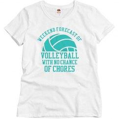 Custom Weekend Forecast of Volleyball Tee