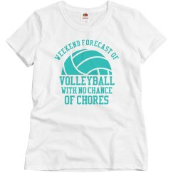Custom Weekend Forecast of Volleyball Tee