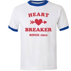 Heart Breaker Since Custom Vintage Ringer Tee