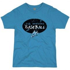 #1-Youth-Regular Tee-Next Level Brand - Black on Blue