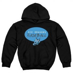 #23-Youth Hoodie-Gildan Brand-Blue on Black