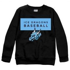 #26-Youth Sweatshirt-Port&Co Brand - Black