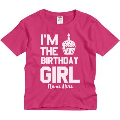 Custom Name Birthday Girl Youth Tee