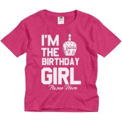 Custom Name Birthday Girl Youth Tee