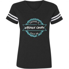 Vintage tee ladies with blue